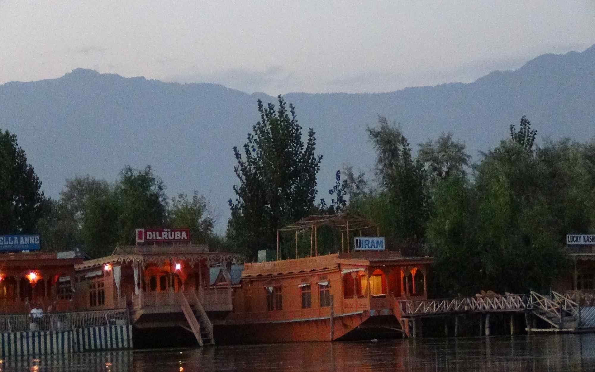 Houseboat view from Shikara