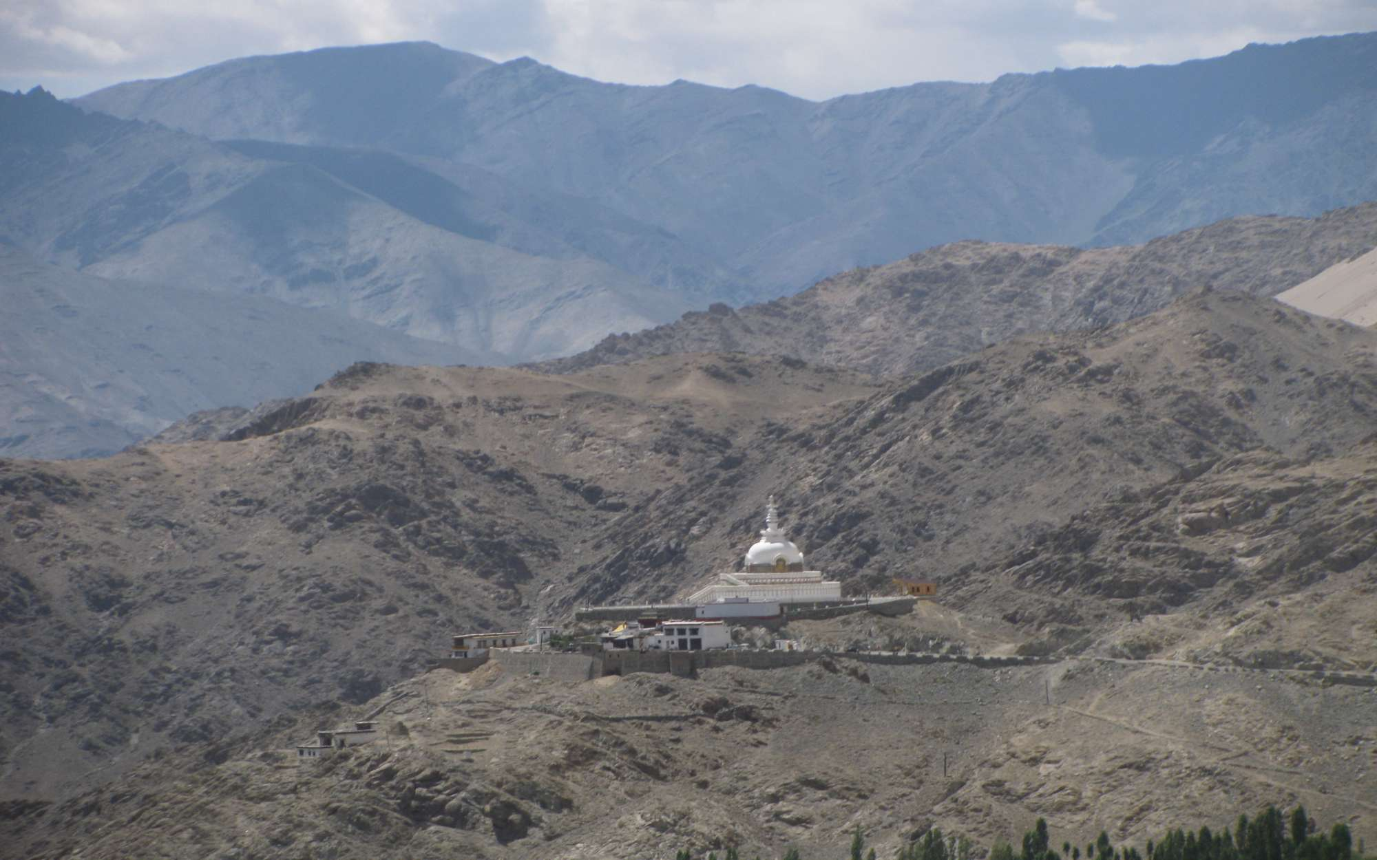 Shanti Stupa from a distance